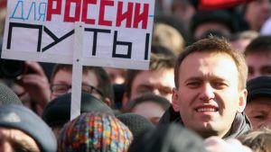 Navalnyj under en anti-Putin demonstration i Moskva 10 mars 2012