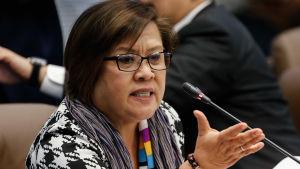 Senator Leila de Lima som tidigare ledde Filippinernas människorättskommission har hört till presidentens främsta kritiker