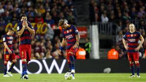 Luis Suarez, Neymar och Andres Iniesta.