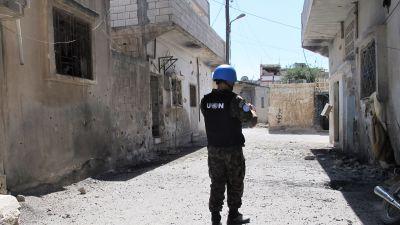 Svenska syrienobservatorer beskjutna