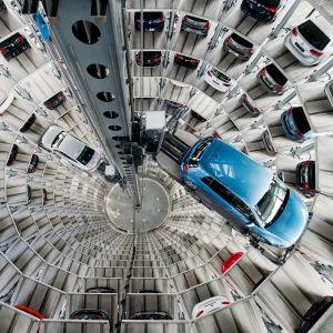 Bild från Volkswagens fabrik i Tyskland.