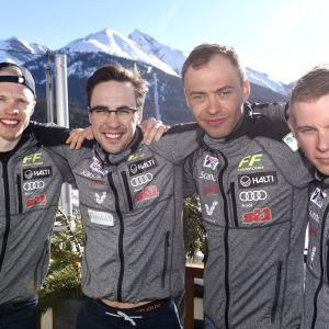 Iivo Niskanen, Ristomatti Hakola, Perttu Hyvärinen och Matti Heikkinen