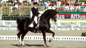 Kyra Kyrklund med Matador, OS 1988.