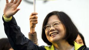 Taiwanesiska partiet DPP:s presidentkandidat Tsai Ing-wen.