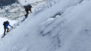 Alpinister i Mont Blanc