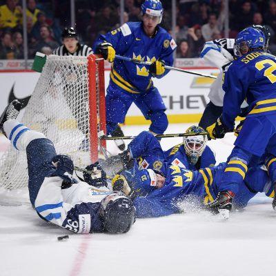 Finland mot Sverige, junior-VM i ishockey 2017.