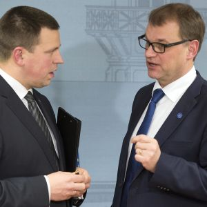 Estlands premiärminister Jüri Ratas träffade sin finländske kollega i december 2016.