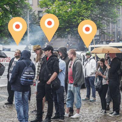 Personer som kanske spåras via gps (illustration).