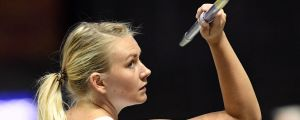 Jenni Kangas i spjutfinalen i EM i Berlin.