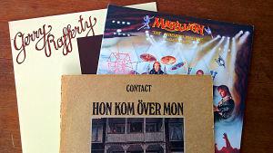Skivkonvolut med Gerry Rafferty, Marillion och Contact