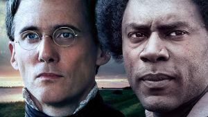 William Lloyd Garrison (näyttelijä Neal Huff) ja Frederick Douglass (Richard Brooks) draamadokumentissa USA:n orjuuden vastainen liike