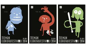 Teeman elokuvafestivaalin 2014 julisteet
