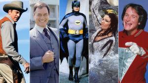 Kuvia tv-sarjoista Ruudinsavua, Dallas, Batman, Dynastia ja Mork & MIndy