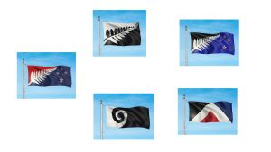 Förslag till ny flagga för Nya Zeeland.
