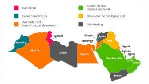 Arabländernas situation 2015.