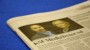 Huvudstadsbladets nyhet m ledarbyte på KSF Media.