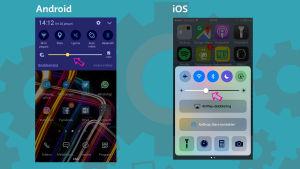 Skärmdumpar från Android och iOS-mobiltelefoner.