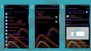 Skärmdumpar från en mobiltelefon.