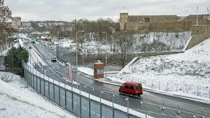 Gränsbron mellan Narva och Ivangorod.