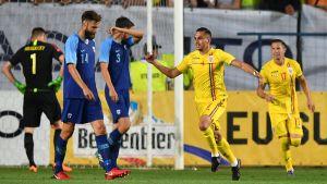 Tim Sparv deppar i en match mot Rumänien