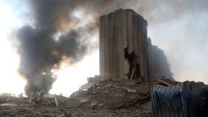 Libanons största vetesilo förstördes i explosionen i Beiruts hamn