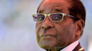 President Robert Mugabe 2013 under den ceremoni då han svärs in som president sista gången.