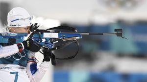 Kaisa Mäkäräinen skjuter i OS