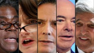 Linda Thomas-Greenfield, Avril Haines, Antony Blinken, Alejandro Mayorkas, John Kerry