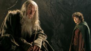 Ian Mckellen och Elijah Wood i filmen Sagan om ringen