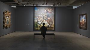 Michael Jackson på hästryggen av Kehinde Wiley - parafras på Rubens berömda målning av kung Filip ll av Spanien
