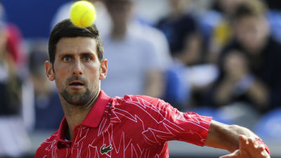 Novak Djokovic under turneringen i Belgrad.