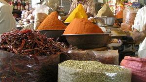 Kryddmarknad i Pakistan