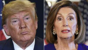 Demokratledaren och representantshusets talman, Nancy Pelosi meddelar att man inleder en riksrättsprocess mot president Donald Trump.