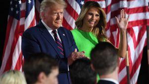 Donald Trump med fru Melania Trump.