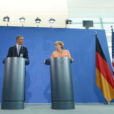 Obama och Merkel i Berlin