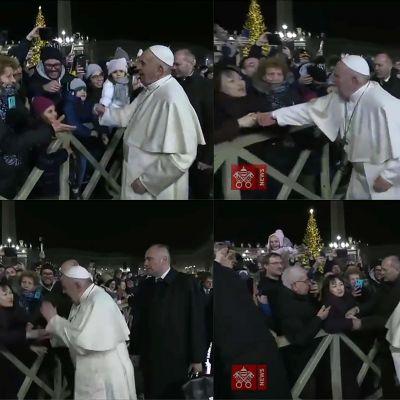 Påven arg på påflugen kvinna