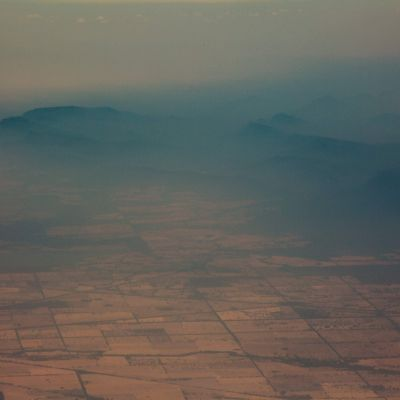 Rök och dis över bergen  i Cooma i New South Wales 7.1.2020.