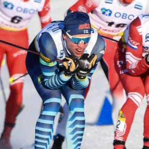 Iivo Niskanen och Aleksandr Bolsjunov i Falun.