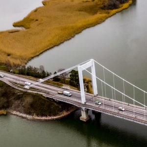 Flygbild på rävsundsbron