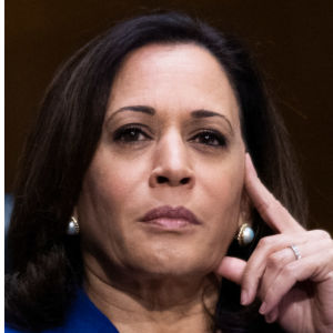 Collage av tre bilder: Kamala Harris, Elizabeth Warren och Susan Rice.