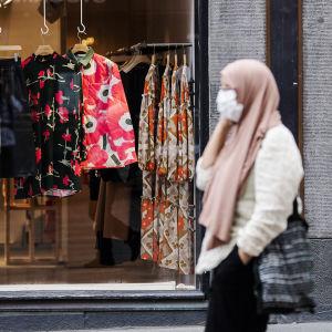 Kuvassa on Marimekon liike Helsingin keskustassa elokuussa 2020.