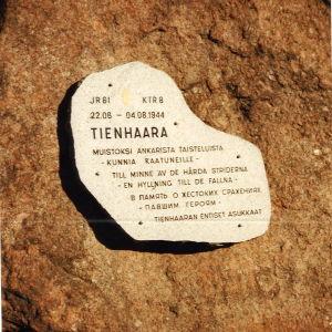 Minnesplatta vid Tienhaara.