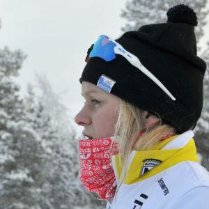 Andrea Julin i programmet Sportliv.