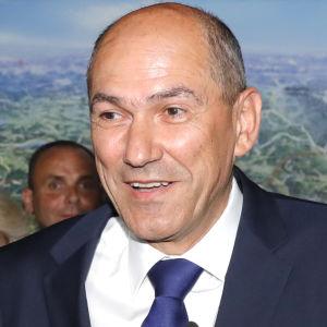 Janez Jansa, ledare för Sloveniens demokratiska parti SDS