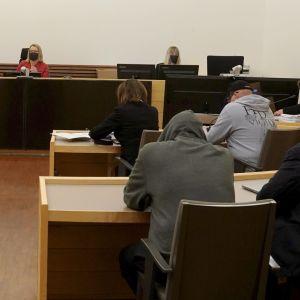 Rättegång pågår i Södra Österbottens tingsrätt den 10 november 2020.