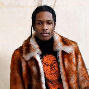 Den amerikanska rapparen Asap Rocky på modeshow i Paris  i januari 2017