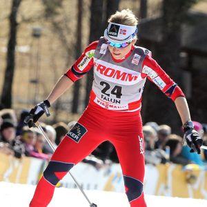 Marthe Kristoffersen åker i världscupen 2012.