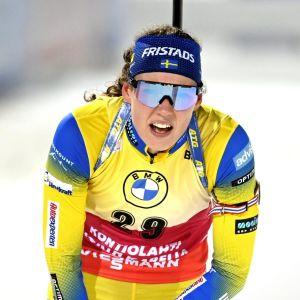 Hanna Öberg pustar.