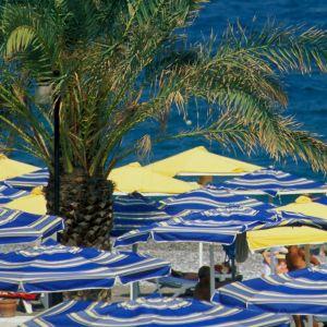 Strand i Antalya, Turkiet.