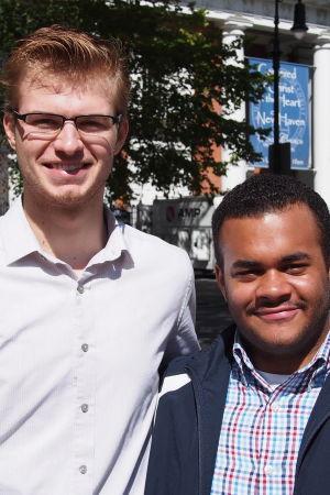 Benjamin Rasmussen och Michael Rasmussen grundade Yale New Republicans.